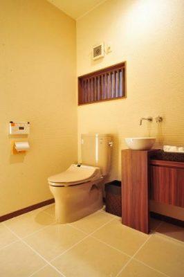 トイレも一緒に改装しました。 カウンターと収納は私のオリジナルデザインです。 エクステリア設計施工 株式会社サンエクス 0533-85-6241