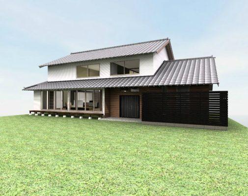 伝統工法の農家住宅の再生案です。 部分的な耐震補強と断熱工事も必要です。