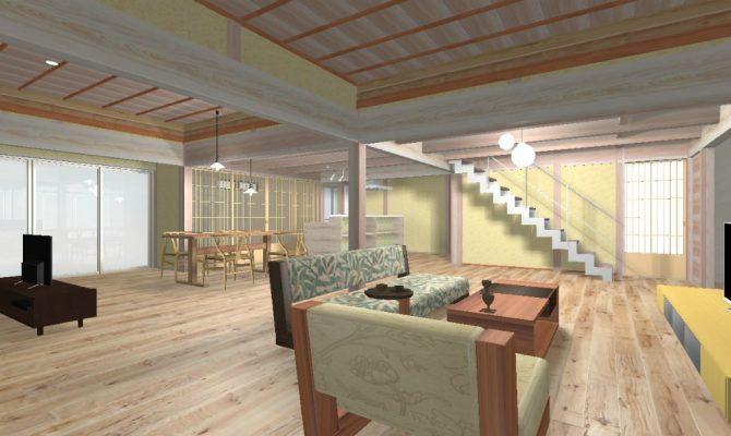 急で使いにくい階段は架け替え、モダンでシャープなスチール階段に変えます。