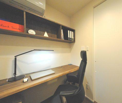 和室だった一画は書斎になりました。