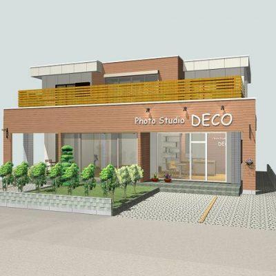 駐車場からはオープンな造り。店舗のファサード