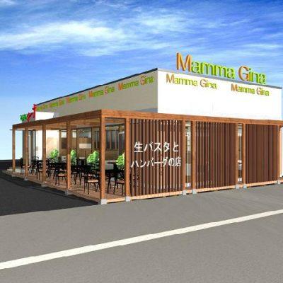 ラーメン屋だった店舗をイタリアンに改修 席数を増やすためにオープンカフェ形式に