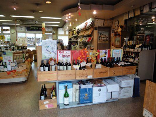 改装前の店の様子。ワインコーナーです。