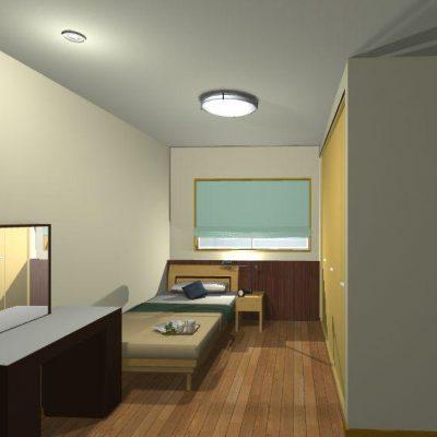 寝室2 すべての寝室にウォークインクローゼットを設け、収納を充実させます。